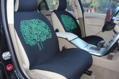 热卖时尚个性免捆绑汽车坐垫四季防滑底五座车通用座垫套 黑色