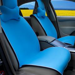 纽锐特厂家直销新款热销防滑免捆绑四季垫 带把套头枕系列 蓝色