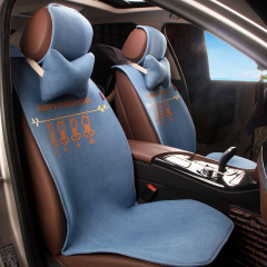 汽车坐垫哪种好纽锐特汽车用品厂家直销汽车四季垫凉垫一件代发 蓝色