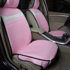 纽锐特厂家新款牛仔加皮四季垫坐垫 粉色