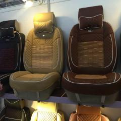 纽锐特厂家新款5D全包汽车坐垫送头枕 棕色