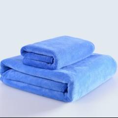 洗车毛巾大号60 180大毛巾磨绒擦车巾吸水加厚不掉毛擦车布专用巾 60*180蓝色