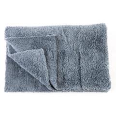 AUTOFOX珊瑚绒超声波切边拉绒洗车毛巾 擦车毛巾 内饰专用毛巾 灰色40*46